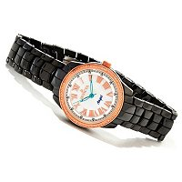 INVICTA WOMEN'S CLASSIQUE CERAMIC DIAMOND ROUND QUARTZ BRACELET WATCH