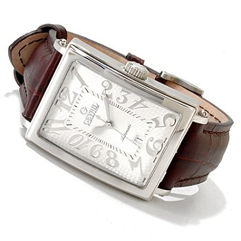 616-806 - Gevril Men's Avenue of the Americas Limited Edition Swiss Made Automantic Leather Strap Watch