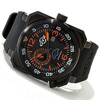 GV2 Men's XO SubmarineSwiss Made Quartz Chronograph Rubber Strap Watch