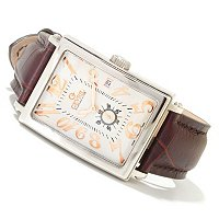 Gevril Men's Avenue of Americas Swiss Made Automatic Leather Strap Watch