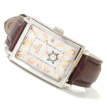 617-049 - Gevril Men's Avenue of the Americas Limited Edition Swiss Made Automatic Leather Strap Watch