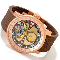 GV2 by Gevril Men's POWERBALL Rubber Strap Watch