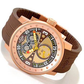 617-054 - GV2 By Gevril Men's Powerball Limited Edition Swiss Made Quartz Strap Watch