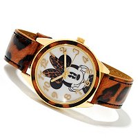 Mickey or Minnie Animal Print Strap Watch