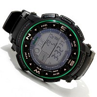 CASIO MEN'S PRO TREK ATOMIC SOLAR ANA-DIGI STRAP WATCH