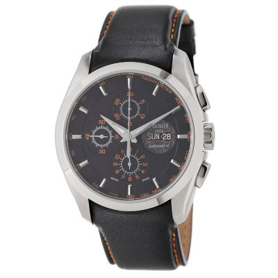617-212 - Tissot Men's Swiss Automatic Chronograph Black Leather Strap Watch