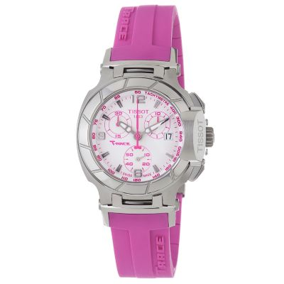 617-232 - Tissot Women's Swiss Made Quartz Chronograph Pink Rubber Strap Watch
