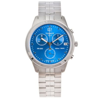 617-237 - Tissot Men's PR100 Swiss Made Quartz Chronograph Stainless Steel Bracelet Watch