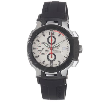 617-239 - Tissot Men's Swiss Automatic Exhibition Caseback Black Rubber Strap Watch