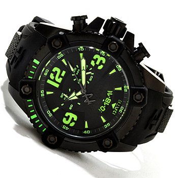 617-258 - Invicta Reserve Men's Arsenal Swiss Quartz Chronograph Polyurethane Strap Watch