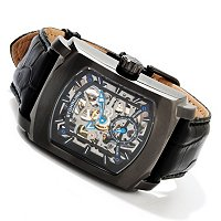 Stuhrling Original Men's Midtown Banker Mechanical Skeleton Strap Watch