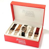 INVICTA MID RUSSIAN DIVER INTERCHANGEABLE 5 PIECE LEATHER STRAP SET
