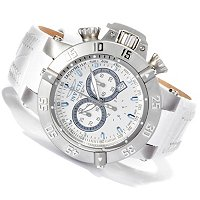 INVICTA MEN'S SUBAQUA NOMA III ARTIC ED SWISS CHRONOGTRAPH LEATHER STRAP WATCH