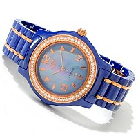 ONISS WOMEN'S ICE COLLECTION CERAMIC MOP DIAL BRACELET WATCH