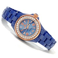 ONISS WOMEN'S LA PETITE PRINCESS COLLECTION CERAMIC BRACELET WATCH