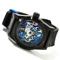 INVICTA MEN'S SEA GHOST SKELETON MECHANICAL POLYURETHANE STRAP WATCH