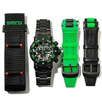 INIVCTA MEN'S SUBAQUA NITRO BLACK LABEL SWISS QUARTZ CHRONOGRAPH 3PC SET