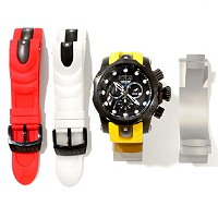 INVICTA RESERVE MENS VENOM OCEAN QUEST II 3PC INTERCHANGEABLE WATCH W/CLOCKSTAND