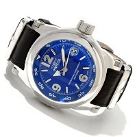 INVICTA MEN'S I FORCE SWISS QUARTZ LEATHER STRAP WATCH