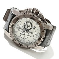 INVICTA RESERVE MEN'S EXCURSION ELEGANT EDITION SWISS CHRONO LEATHER STRAP WATCH