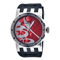 INVICTA MEN'S DNA RECYLED ART QUARTZ STRAP WATCH