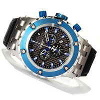 INVICTA RESERVE SPEAICALTY SUBAQUA SWISS QUARTZ CHRONOGRAPH LEATHER STRAP WATCH
