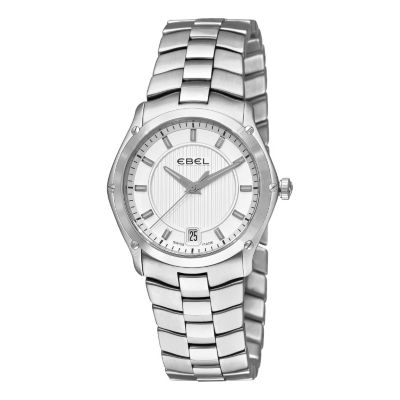 617-399 - Ebel Women's Classic Sport Grande Swiss Made Quartz Stainless Steel Bracelet Watch