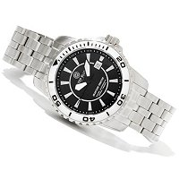 DEEP BLUE MEN'S BLUETECH MASTER SWISS AUTOMATIC STAINLESS BRACELET WATCH