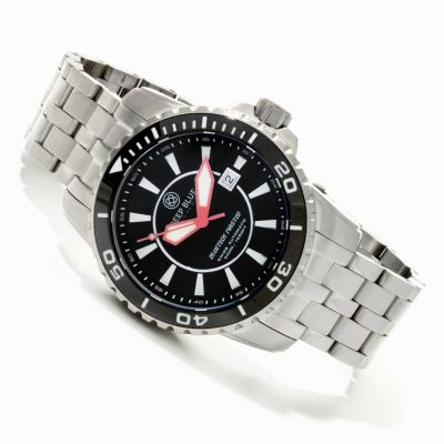 31 - Deep Blue Men's Bluetech Master Swiss Automatic Stainless Steel Bracelet Watch