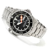 DEEP BLUE MEN'S PRO AQUA DIVER AUTOMATIC SAPPHIRE BEZEL STAINLESS BRACELET WATCH