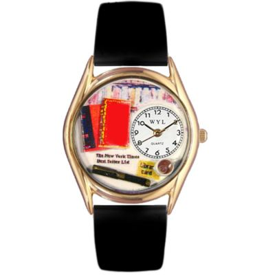 617-437 - Whimsical Watches Kid's Book Lover Quartz Leather Strap Watch