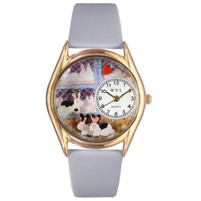 617-491 - Whimsical Watches Kid's Bunny Rabbit Quartz Leather Strap Watch