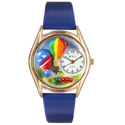 617-505 - Whimsical Watches Kid's Hot Air Balloons Quartz Leather Strap Watch