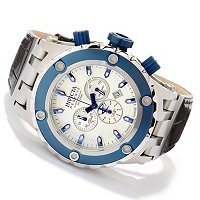 INVICTA RESERVE MENS SPECIALTY SUBAQUA ELEGANT QUARTZ CHRONO LEATHER STRAP WATCH