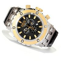 INVICTA RESERVE MEN'S SPLTY SUBAQUA ELEGANT QTZ CHRO STRP WATCH