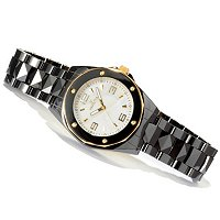INVICTA WOMEN'S OCEAN ELITE QUARTZ DAY & DATE CERAMIC BRACELET WATCH