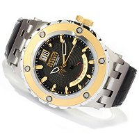 INVICTA RESERVE SPEAICALTY SUBAQUA SWISS QUARTZ RETROGRADE LEATHER STRAP WATCH