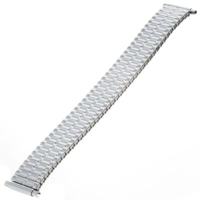 617-646 - Republic Men's 15-20mm Straight Squeeze End Stainless Steel Watch Bracelet