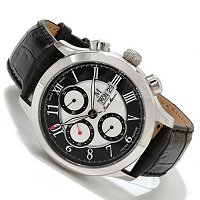 JEAN MARCEL MEN'S SEMPER SWISS MADE AUTOMATIC CHRONO LEATHER STRAP WATCH