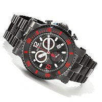 Trex Diver Men's Swiss Carbon Fiber Dial Bracelet Watch