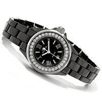 ONISS WOMEN'S SWISS CERAMIC CRYSTAL ACCENT MOP BRACELET WATCH