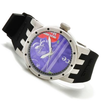 617-763 - Invicta Women's DNA Recycled Art Quartz Stainless Steel Case Silicone Strap Watch