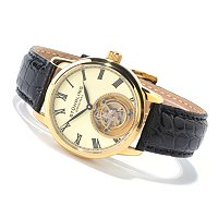 Stuhrling Original Men's Dominus Mechanical Tourbillon Strap Watch