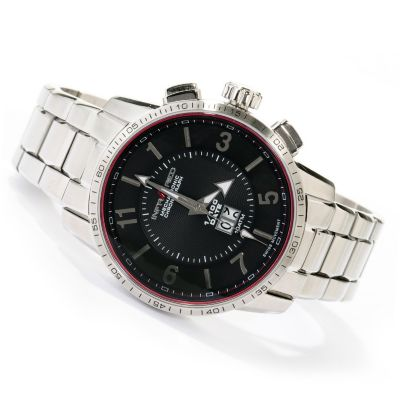 617-811 - Infrared® Men's Red 1/100 Swiss Quartz Mechatronic Chronograph Bracelet Watch