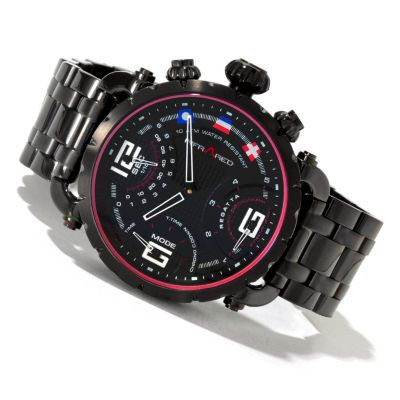 617-813 - Infrared® Men's Red Regatta Swiss Mechatronic Quartz Chronograph Bracelet Watch