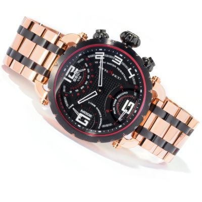 617-819 - Infrared® Men's Red Pulse Swiss Mechatronic Quartz Chronograph Bracelet Watch