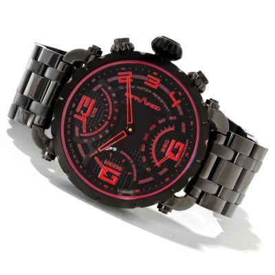 617-820 - Infrared® Men's Red Ops Swiss Mechatronic Quartz Chronograph Bracelet Watch