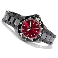 INVICTA WOMEN'S PRO DIVER QUARTZ MOVEMENT CERAMIC BRACELET WATCH