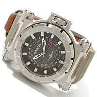 INVICTA MEN'S COALITION FORCE SWISS MADE QUARTZ GMT STRAP WATCH