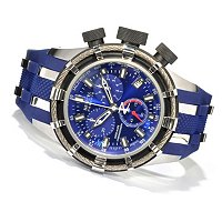 INVICTA RESERVE MEN'S BOLT SWISS CHRONO STAINLESS POLY STRAP WATCH W/ 3 SLOT DC